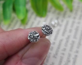 Sterling Silver Circle Stud Earrings / Posts