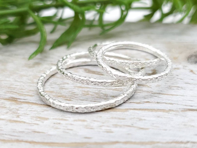 Sterling Silver Stack Rings / Stacker Rings / Sets image 0