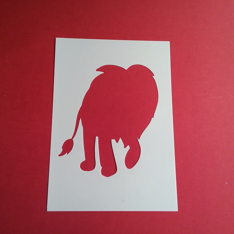 Airbrush Animal Stencil Craft Stencil Card making Elephant stencil