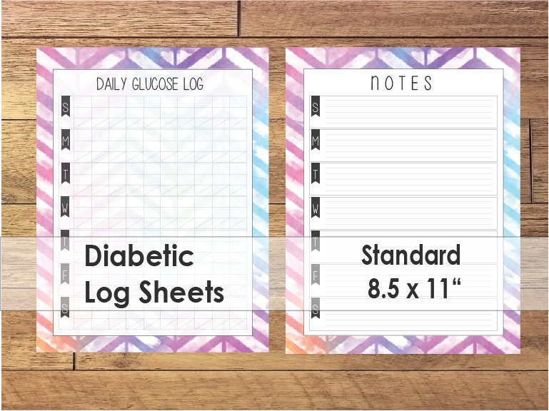 photo about Printable Glucose Log named printable glucose log sheet -