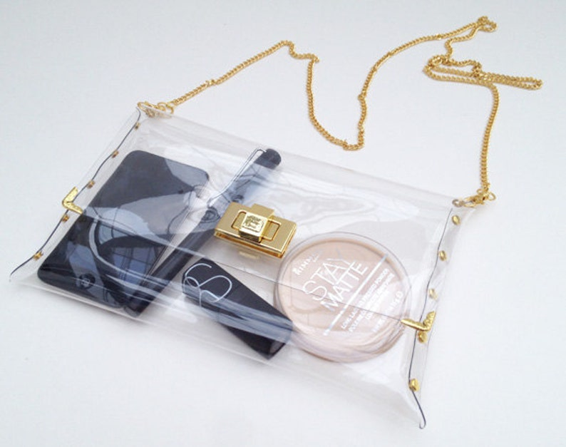 Medium Deluxe Transparent Clear Clutch Bag Dexluxe Clear image 0