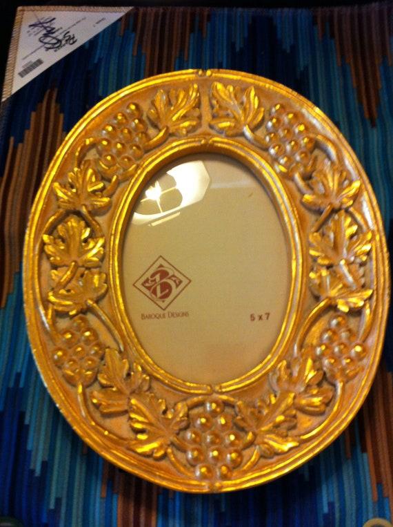 Golden Frames For Oval 5 X 7 Photos Baroque Etsy