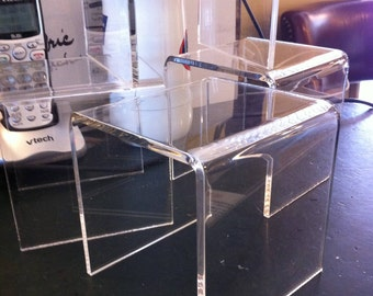 "Acrylic Riser, 4"" x 4"" x 4"" Riser For Displays"