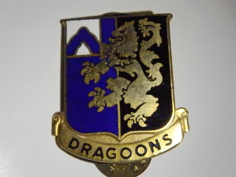 US Army Unit Crest 48th Infantry Regiment DRAGOONS Distinctive Unit Insignia