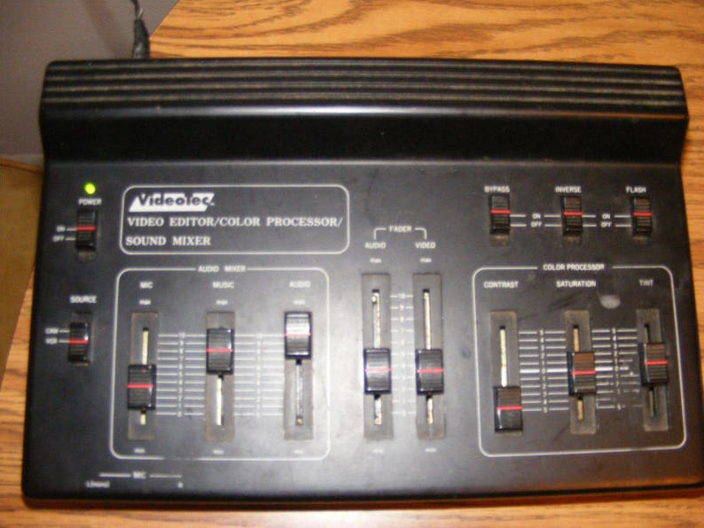 video tec editor color processor sound mixer with 4 mics and wires/plugs