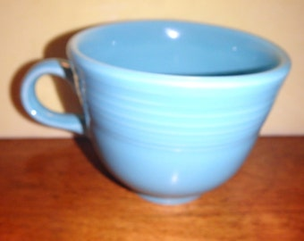 Fiestaware Turquoise Tea Coffee Cup Homer Laughlin Co