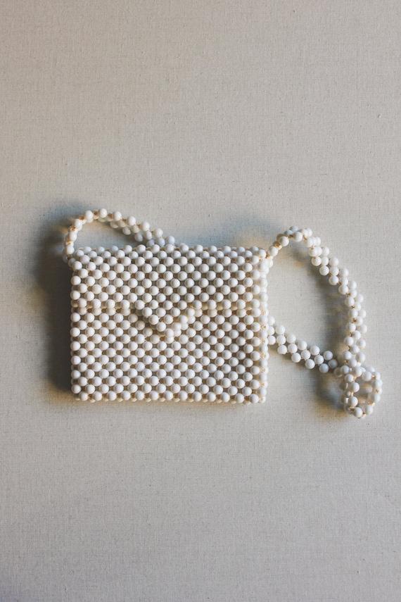 Vintage 1960s Beaded Bag | Summer Clutch - image 1