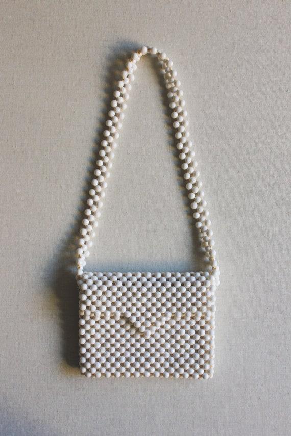 Vintage 1960s Beaded Bag | Summer Clutch - image 2