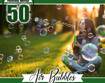 Air Bubbles Photo Overlays, Realistic Photoshop effect, soap bubble, Photoshop overlay, fairy dreamy fantasy overlays, jpg file