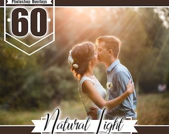 60 natural sun light overlays, photoshop overlay, lens flare overlays, sun ray, enchanting light wedding baby, realistic effect, jpg