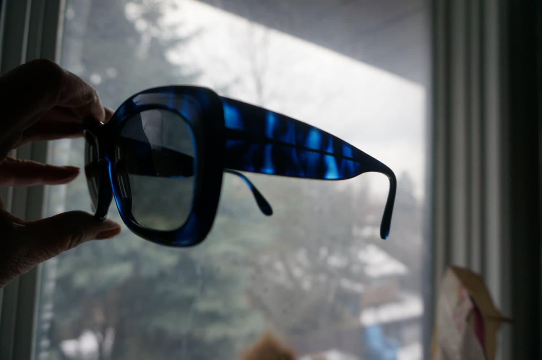 a5d9db92ab0 GUCCI SUNGLASSES Vintage Gucci Glasses Blue Black Gucci