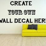 Custom Vinyl Classroom Decals, Inspirational Wall Decal, Create Your Own Wall Decal, Create Your Own Decal, Create Your Own Sticker