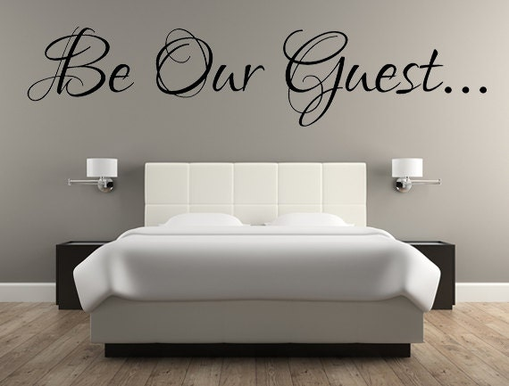 Be Our Guest Decal Wall Words Vinyl Lettering Bedroom Decor Etsy