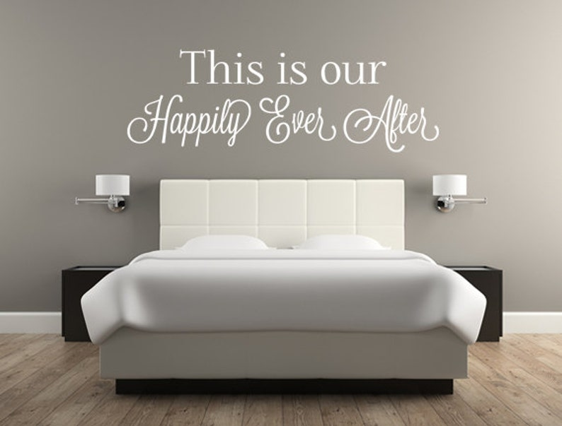 This Is Our Happily Ever After Vinyl Wall Decal Quote Sticker image 0