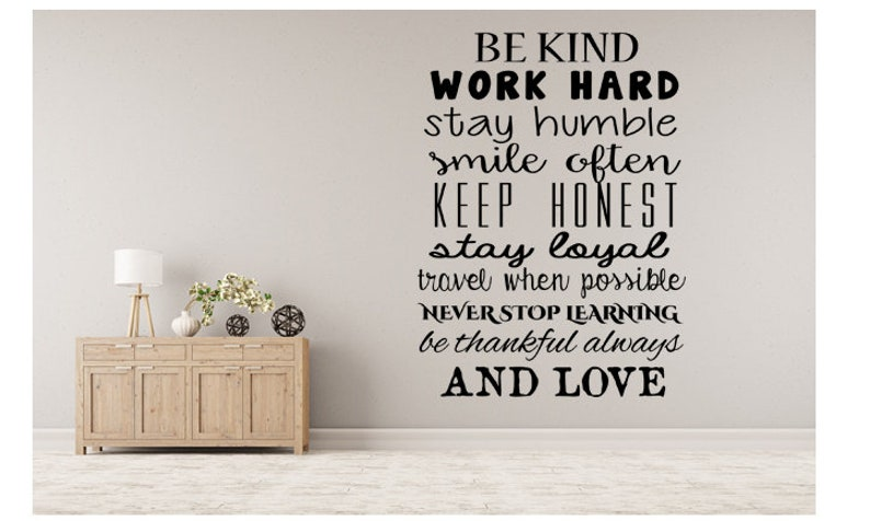 Motivational Inspirational Wall Decal Be Kind image 0