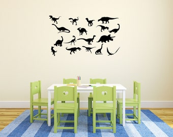 Dinosaur Wall Decals - Wall Sticker - Nursery Decor, Dinosaur Decor, Removable Decal, Kids Room Wall Art, Bedroom Decor, Gift for Kids