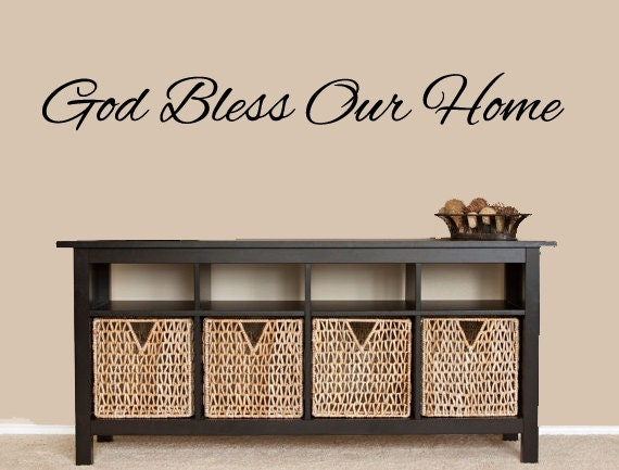 God Bless Our Home Sign Vinyl Wall Decal House Warming Gift | Etsy