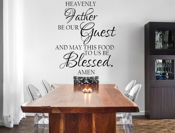 Blessed Decal Vinyl Wall Decal Dining Room Decal Wall Decal | Etsy