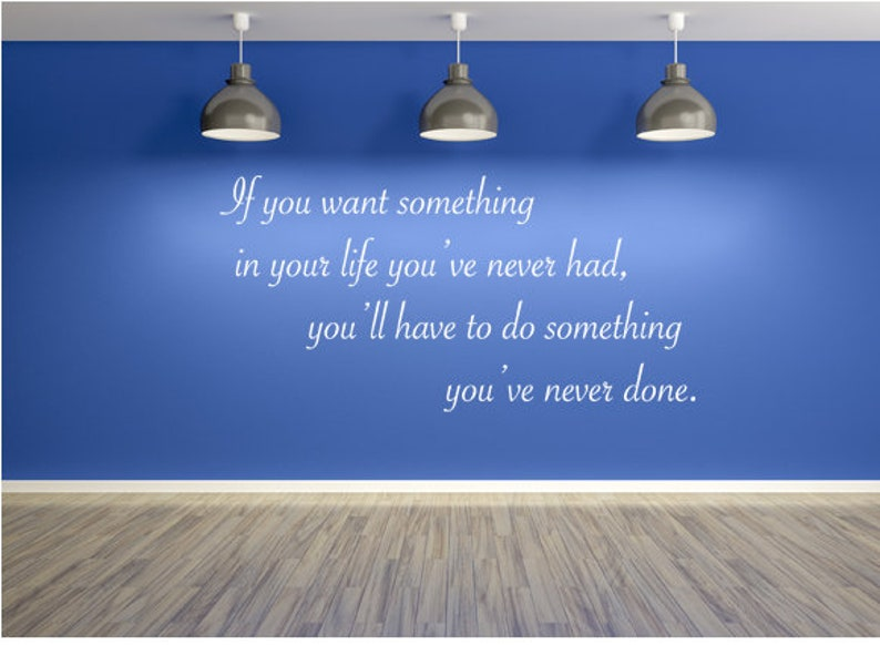 If You Want Something Wall Decal Motivational Decal Fitness image 0
