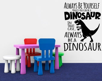 Dinosaur Decal Wall Sticker - Dinosaur Wall Art - T Rex - Nursery Wall Decals - Dinosaur Wall Decal, Dinosaur Decals