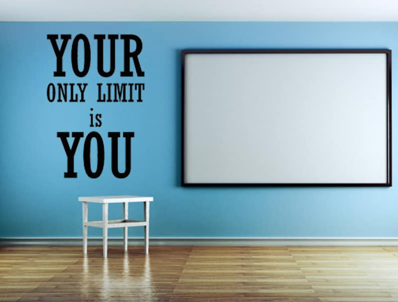 Your Only Limit Is You Decal Fitness Decal Gym Wall Decal image 0