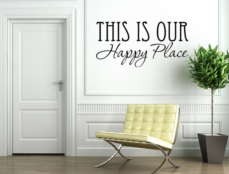 This Is Our Happy Place Decal Happy Place Decal Happy Place image 0