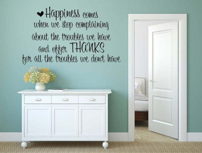 Happiness Comes Wall Quote Decal  Happiness Decal  image 0