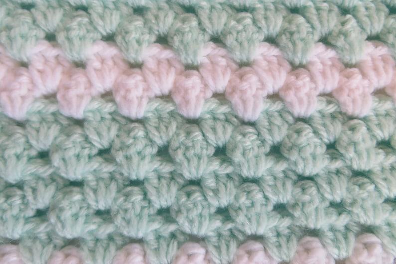 33 x 34 Crochet Baby Blanket Teal and White Unisex Car Seat Stroller Blanket Crochet Baby Afghan