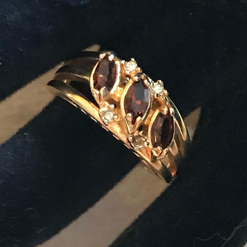 Vintage Ring Costume Jewelry Gorgeous TopazDiamond Ring