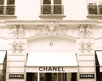 Chanel Store 31 Rue Cambon Paris, France Photography, Paris Decor, Art Print