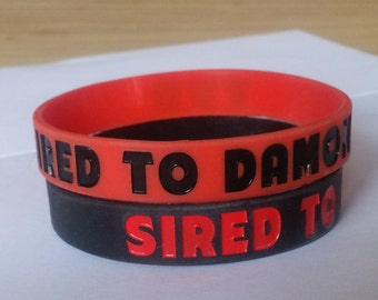 Sired to Damon Wristband, a wristband for lovers of Damon from The Vampire Diaries
