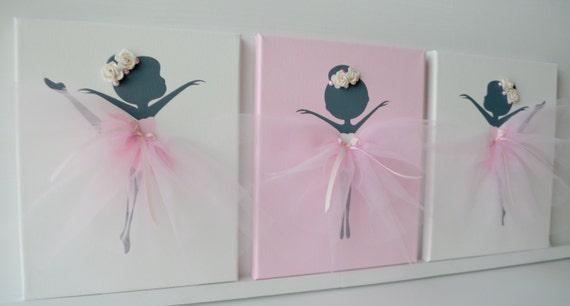 Kinderkamer Roze Grijs : Ballerina kinderkamer kunst aan de muur in wit roze en grijs. etsy