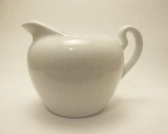 Vintage 1986 to 1993 Signed Bareuther Bavaria Germany Porcelain Small White Creamer or Cream Pitcher