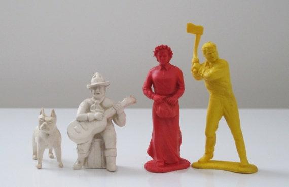 Vintage 1950s Wild West Western Cowboy Toy Figures Marx