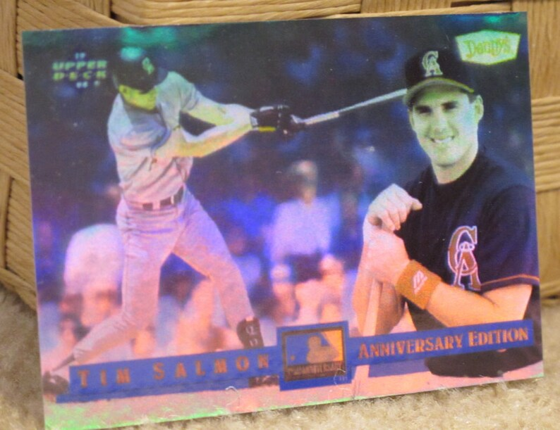 Vintage 1994 Upper Deck Tim Salmon California Angels 3d Hologram Baseball Card Dennys 125th Anniversary Promotion Card 21 Of 28
