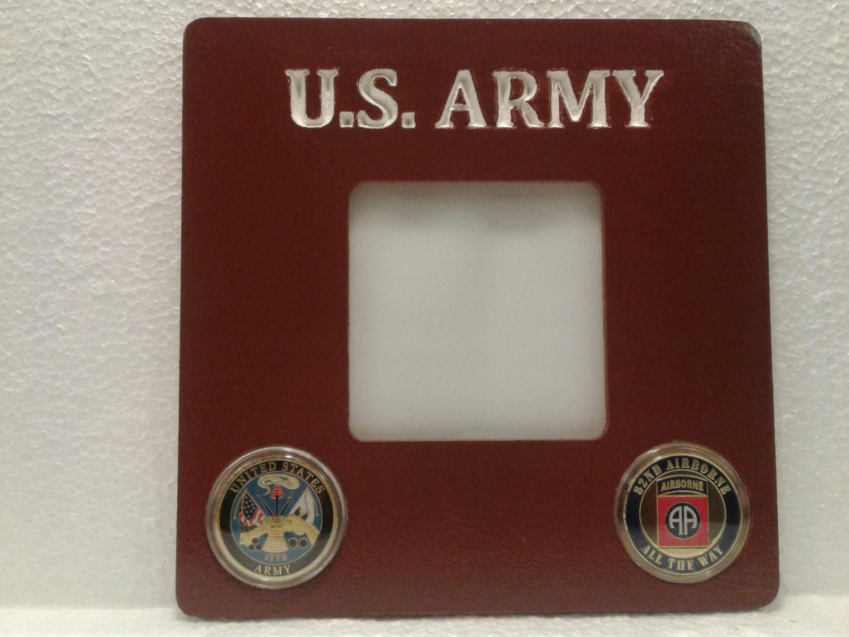 U S Armee-Bilderrahmen mit montiert Challenge Coins | Etsy