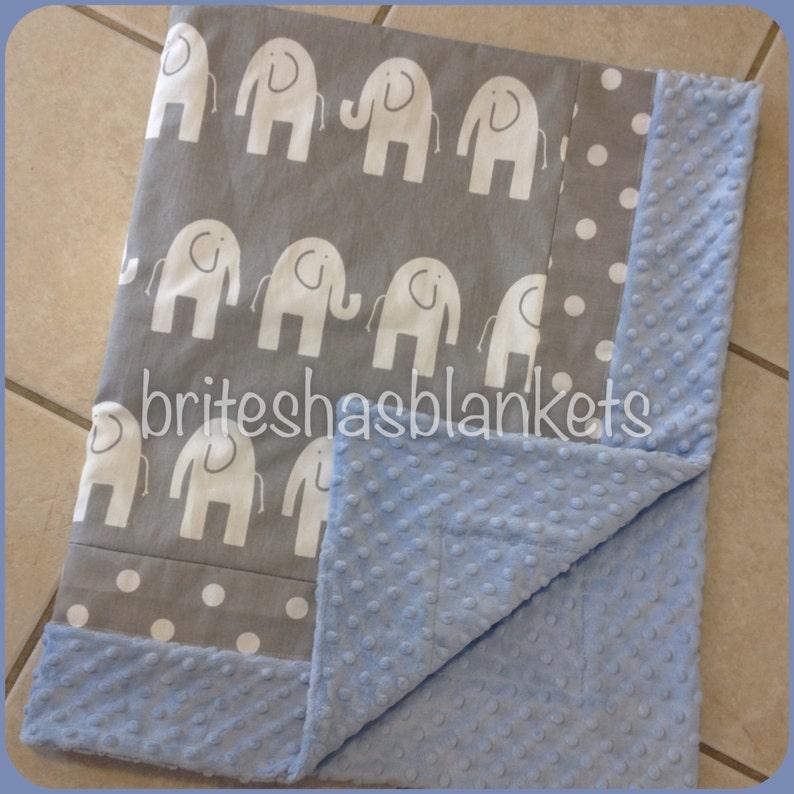 baby pink minky dot Baby pink elephant blanket grey chevron and elephant