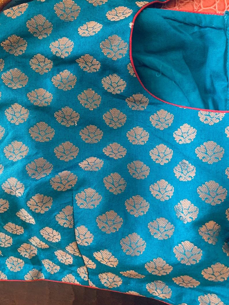 3640 Size Elegant Brocade Blouse Ethnic Wear Lehenga Choli Saree blouse