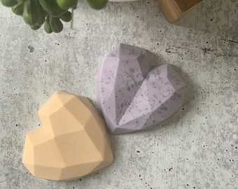 Handmade soap, Geometric Heart soap, 100% organic, Gift for her, Best friends gifts, Wedding Decor, Anniversary, Party Favors, Bridal Shower