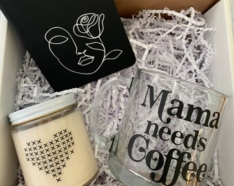 Mother's Day Gift Box, Candle Gift Box, Coffee Mug Gift, Personalized Notebook, Birthday Gift Box, Gift for Her, Care Package,FREE SHIPPING