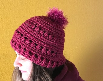 886fbbebab0cc Women Crochet Pom Pom Hat - FREE SHIPPING
