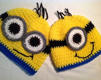 657d6a05 Despicable Me Crochet Hat: Minion. FREE SHIPPING