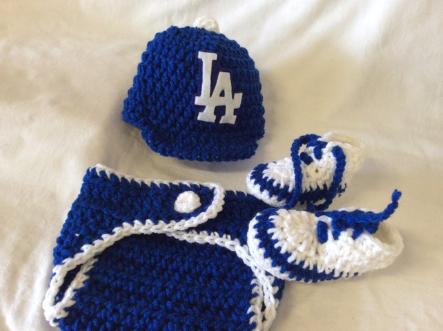 ... where to buy los angeles dodger baby crochet baseball cap diaper cover  and etsy f8a3b fe2d3 2f5a3bb1a56a