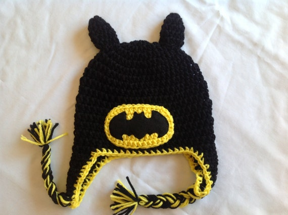 Batman Crochet Super Hero Hat Free Shipping Etsy
