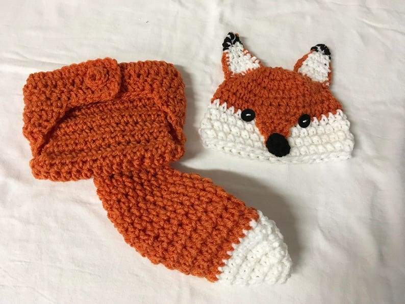 ca0326305 Baby Fox Hat and Diaper Cover. FREE SHIPPING