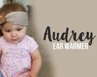 Crochet Pattern // Audrey Ear Warmer // Easy
