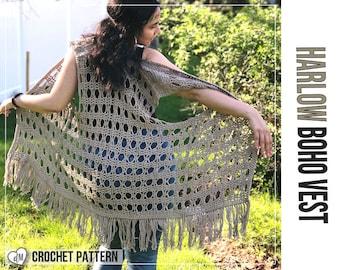 Crochet Boho Vest Etsy
