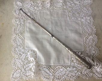 Antique Silver Ladies Button Hook
