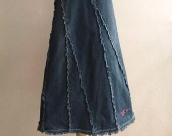 MICHIKO LONDON Kids Jeans - Gray Denim Dress Small or for teenagers - Minimalist Chic