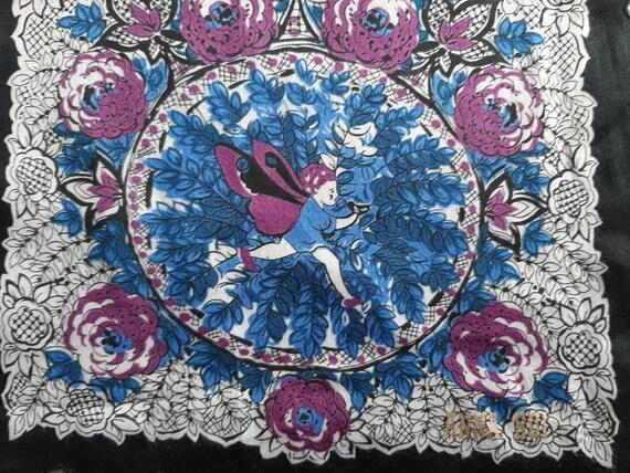 ANNA SUI Vintage Handkerchief - Cotton Floral Pri… - image 2